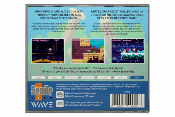 Intrepid Izzy - Dreamcast - Back